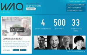 Page d'accueil du site Web du WAQ