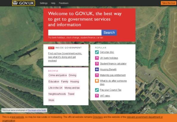 Portail Web GOV.UK