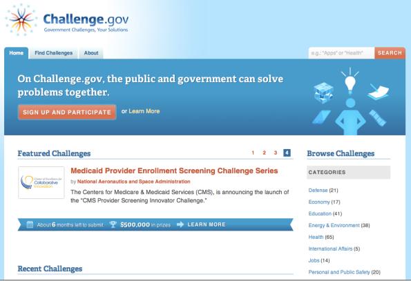 Site web Challenge.gov
