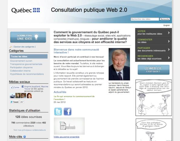 Site de la consultation publique